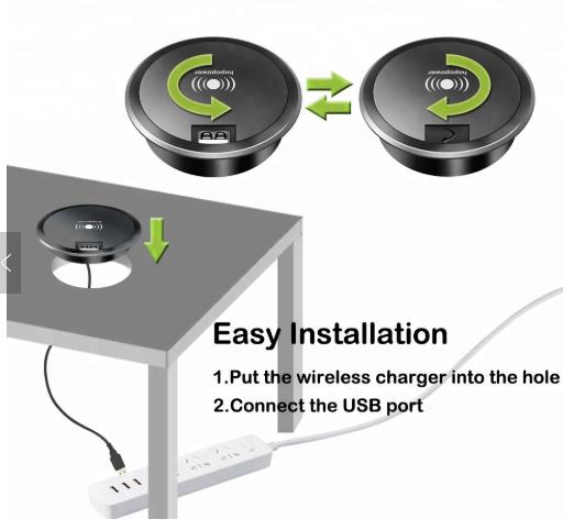 Trådløs lader og USB lading