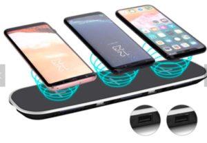 5 i 1 Qi trådløs lader, trådløs lader for smarttelefon